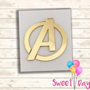 Aplique Avengers 5 cm (pacote com 5 peças)