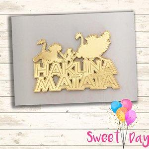 Aplique Rei Leão Hakuna Matata 7 cm (10 peças)