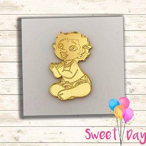 Aplique Moana Baby ( 10 peças ) 5 cm