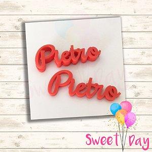 Aplique Nomes coloridos até 08 letras  ( 10 peças ) 5 cm