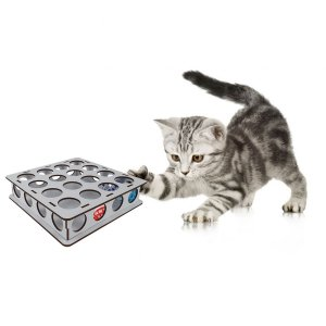 Brinquedo Bolinhas Para Gatos Com Guiso Caixa MDF Branco