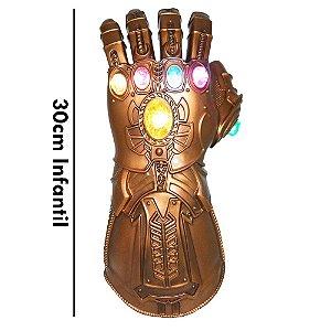 Manopla do Infinito Thanos com Luzes Led Luva Vingadores Alta Qualidade - Infantil