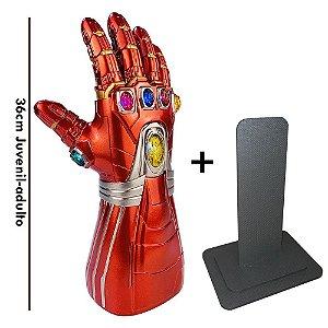 Manopla Do Infinito Homem De Ferro Luzes com Luzes Led + Pedestal