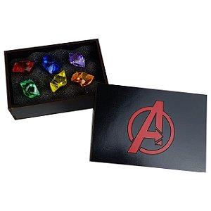Baú Pedras do Infinito Thanos Caixinha Joias do Poder