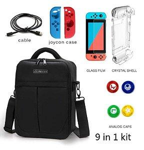 Bolsa Viagem Nintendo Switch Proteção EVA Com Diversos Itens
