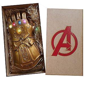 Manopla Do Infinito Thanos Luz Led Luva Infantil Kid e Caixa