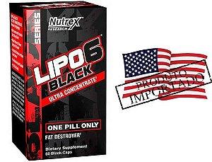 Lipo 6 Black Importado Original EUA Nutrex 60 Caps