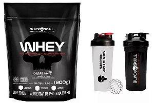 Whey Protein Refil 900g - Black Skull + Coqueteleira