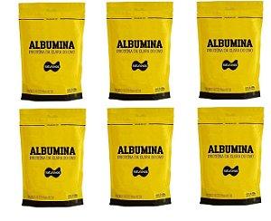 6x Albumina 500g Naturovos 3,0kg - Sabores