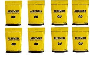 8x Albumina 500g Naturovos 4,0kg - Sabores