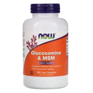 NOW Supplements Glucosamine & MSM - 180 Veg Capsules