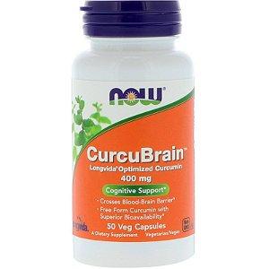 Curcubrain Now Foods 50 Veg Capsulas- Pronta Entrega 400 Mg
