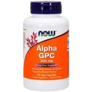 Alpha Gpc - 300 Mg - 60 Cáps. Now Foods