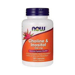 Choline E Inositol 500mg 100 Caps - Now Foods