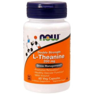 L-theanine- Teanina - 200 Mg 60cps Now Foods Pronta Entrega