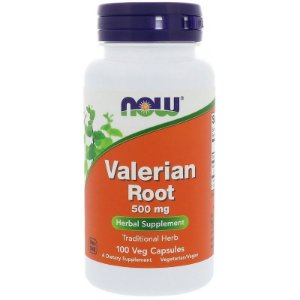 Valerian Root Raiz Valeriana Importada Usa - Now Foods 500mg 100 Caps Calmante Natural