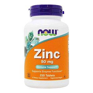 Zinco 50mg 250 Tablet Cap Zinc- Now Foods