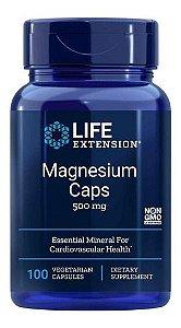 Magnésio Caps 500mg 100caps Life Extension