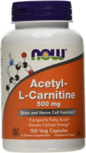 Acetyl L-carnitina 500mg 100cps Now Foods