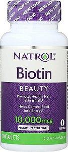 Biotina Natrol Beauty 10,000mcg (100 Tablets)