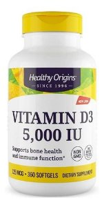 Vitamina D3 5000ui 360caps Healthy Origins Importada