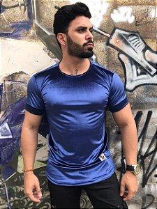 T-shirt longline - AZUL