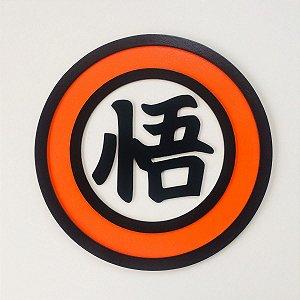 Placa Goku Kanji Alto-Relevo