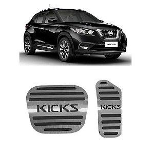 Pedaleira Nissan Kicks Automático 2017 a 2021 Aço Inox GPI