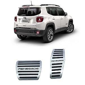 Pedaleira Jeep Renegade Automático 2017 a 2021 Aço Inox GPI