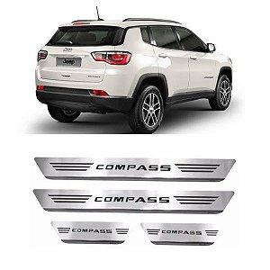 Soleira de Porta GPI Jeep Compass 2015 a 2020 Inox Escovado