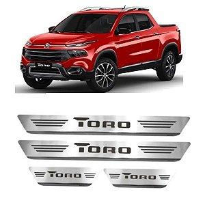 Soleira de Porta GPI Fiat Toro 2016 a 2021 Inox Escovado