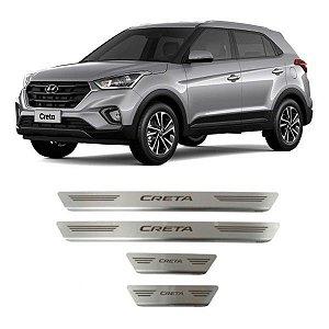 Soleira de Porta GPI Hyundai Creta 2016 a 2021 Inox Escovado