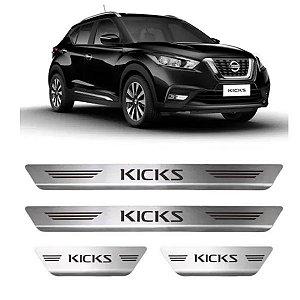 Soleira de Porta GPI Nissan Kicks 2016 a 2021 Inox Escovado