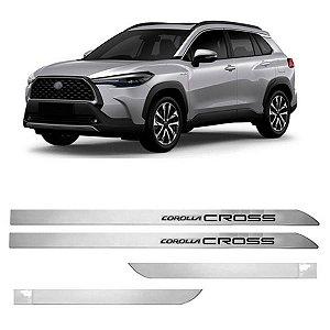 Kit Friso Lateral Flash Corolla Cross Prata Lua Nova 2021 2022 Slim