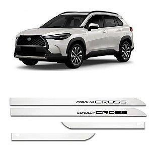 Kit Friso Lateral Flash Corolla Cross Branco Polar 2021 2022 Slim