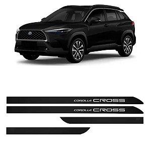 Kit Friso Lateral Flash Corolla Cross Preto Infinito 2021 2022 Slim