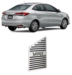 Descanso De Pé Toyota Yaris 2018 a 2021 Aço Inox GPI