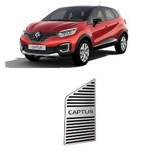 Descanso De Pé Renault Captur 2017 a 2020 Aço Inox GPI