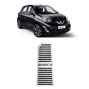 Descanso De Pé Nissan March 2012 a 2021 Aço Inox GPI