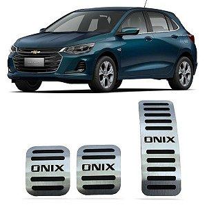 Pedaleira Onix Manual 2020 2021 Aço Inox GPI