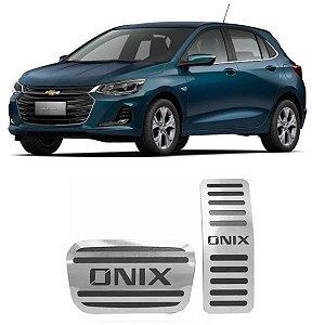 Pedaleira Onix Automático 2020 2021 Aço Inox GPI