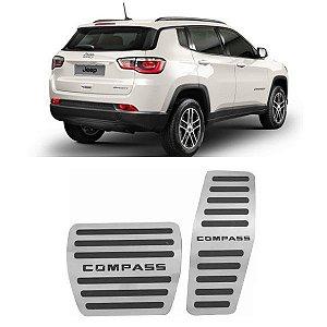 Pedaleira Jeep Compass Automático 2017 a 2020 Aço Inox GPI