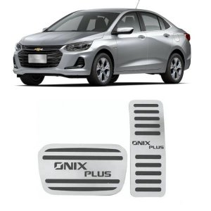 Pedaleira Onix Plus Automático 2020 2021 Aço Inox GPI