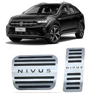 Pedaleira Nivus Automático 2020 2021 Aço Inox GPI