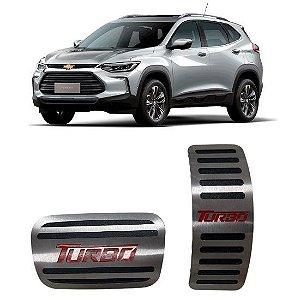 Pedaleira GM Tracker Turbo Automático 2020 2021 Aço Inox GPI