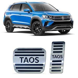 Pedaleira VW Taos Automático 2021 2022 Aço Inox GPI