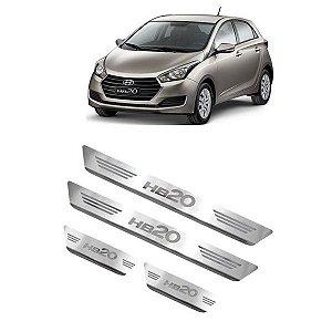 Soleira de Porta Hyundai HB20 2013 a 2021 Inox Escovado GPI