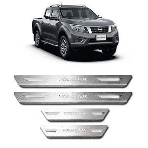 Soleira de Porta Nissan Frontier 2008 a 2021 Inox Escovado GPI
