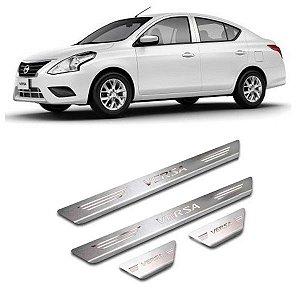 Soleira de Porta Nissan Versa 2015 a 2020 Inox Escovado GPI