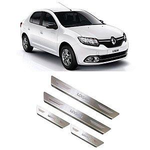 Soleira de Porta Renault Logan 2010 a 2020 Inox Escovado GPI